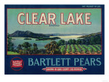 Clear Lake Pear Crate Label - Lake County, CA Print by  Lantern Press