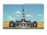 Waterville, Maine - Exterior View of Colby College Miller Library Posters by  Lantern Press
