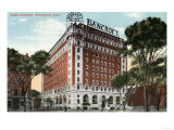 Worcester, Massachusetts - Exterior View of the Hotel Bancroft Posters