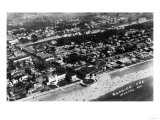 Seaside, Oregon - Aerial View of the City and Beach Posters