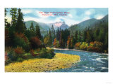 Vancouver, Canada - View of the Lions and Capilano River Posters