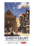 Shrewsbury, England - Old Market Hall View British Railways Poster Posters
