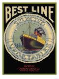 Best Line Vegetable Label - Fresno, CA Posters