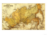 Russia - Panoramic Map Prints