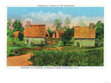 Salem, Massachusetts - Pioneers' Village Scene in Forest River Park No. 2 Posters by  Lantern Press