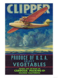 Clipper Vegetable Label - Salinas, CA Poster by  Lantern Press