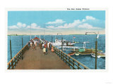 Salem, Massachusetts - View of the Salem Willows Pier Poster by  Lantern Press