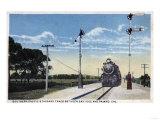 San Jose, California - Southern Pacific Railroad to Pajaro Poster by  Lantern Press