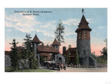 Spokane, Washington - R B Porter Residence Entrance View Poster