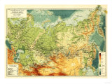 Russia - Panoramic Map Print by  Lantern Press