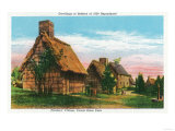 Salem, Massachusetts - Pioneers' Village Scene in Forest River Park Print by  Lantern Press