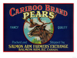 Cariboo Pear Label - Canada Print by  Lantern Press