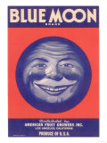 Blue Moon Vegetable Label - Los Angeles, CA Posters by  Lantern Press