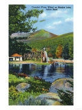 White Mountains, New Hampshire - Shadow Lake Overshot Water Wheel View Posters