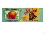 Bell Peach Label - San Francisco, CA Art by  Lantern Press