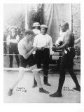 Boxers Marty Cutler and Jack Johnson Photograph Art by  Lantern Press