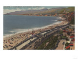 Santa Monica, CA - Los Angeles County Beach Scene Posters by  Lantern Press
