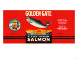 Golden Gate Brand Salmon Label - Seattle, WA Poster
