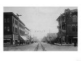 Vancouver, WA - Main Street View of Downtown Photograph Poster by  Lantern Press