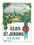 Clos St. Jermoe Wine Label - Europe Poster by  Lantern Press