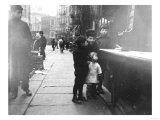 Children on a Chinatown Street NYC Photo - New York, NY Posters by  Lantern Press