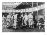 Cleveland Indians Choose Bats, Baseball Photo - Cleveland, OH Prints by  Lantern Press