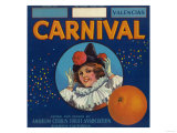 Carnival Orange Label - Anaheim, CA Posters