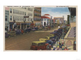 St. Petersburg, FL - View of Central Ave with Cars Print by  Lantern Press