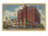 Spokane, WA - View of Davenport Hotel No.2 Print