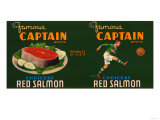 Captain Brand Salmon Label Posters