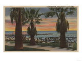 Santa Monica, CA - Yacht Harbor and Sunset View Posters