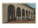 St. Petersburg, FL - Exterior View of Post Office Poster by  Lantern Press