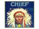 Chief Orange Label - Redlands, CA Poster by  Lantern Press