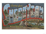 Sheboygan, Wisconsin - Large Letter Scenes Posters