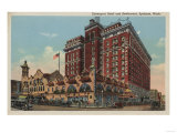 Spokane, WA - View of Davenport Hotel No.1 Posters