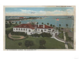 St. Petersburg, FL - Aerial of Yacht Club & Harbor Posters by  Lantern Press