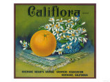Califlora Orange Label - Riverside, CA Posters