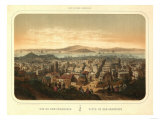 San Francisco, California - Panoramic Map No. 2 Print by  Lantern Press