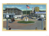 Seaside, Oregon - Broadway from Trail's End Turn-A-Round Posters by  Lantern Press