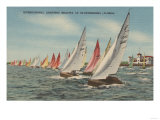 St. Petersburg, FL - View of Lightning Regatta Race Posters by  Lantern Press