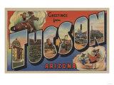 Tucson, Arizona - Large Letter Scenes Posters by  Lantern Press