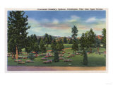 Spokane, Washington - Upper Terrace View of Greenwood Cemetery Posters