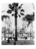 Cathedral in the Plaza de Armas in Peru Photograph - Lima, Peru Poster by  Lantern Press