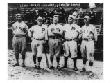 Boston Red Sox & Philadelphia Phillies Players, Baseball Photo - Philadelphia, PA Poster