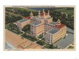 St. Petersburg, Florida - Aerial of Don Ce-Sar Hotel Posters by  Lantern Press