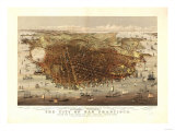 San Francisco, California - Panoramic Map No. 4 Poster by  Lantern Press