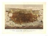 San Francisco, California - Panoramic Map No. 4 Poster