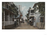 St. Augustine, Florida - View of St. George St. No.1 Poster by  Lantern Press