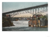 Spokane, Washington - Monroe Street Bridge and Falls Posters