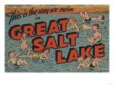 Great Salt Lake, Utah - The Way We Swim Posters
